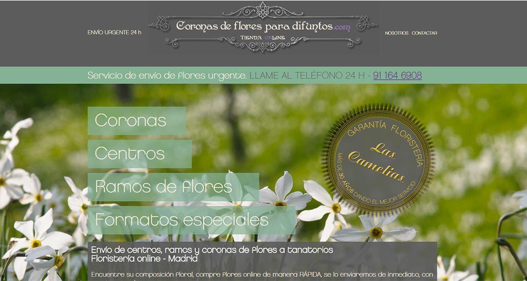 Coronas de flores para tanatorios en la Comunidad de Madrid